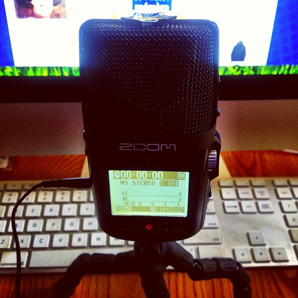 "From the ""in case you were curious"" department -- this is a Zoom H2n Handy Recorder, which the Mémère Project will be using to conduct its podcasts during the 2013 Roadtrip to New England and Quebec. Stay tuned for updates from the road, starting next week. Check out http://www.memere.org for more information. /// #quebec #canada #newengland #maine #montreal #quebeccity #quebecois #quebecoise #francoamerican #frenchcanadian #pq #jemesouviens #roadtrip"