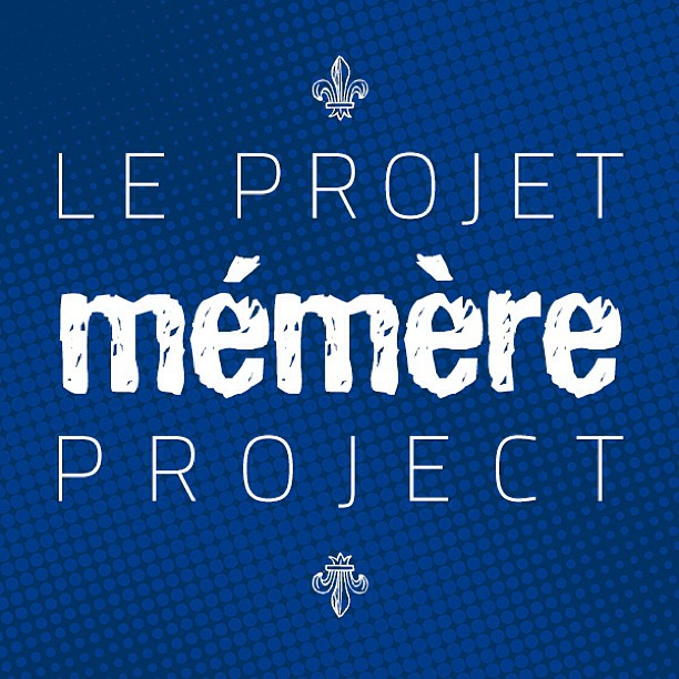 New logo for le projet Mémère / the Mémère project. A journey to discover French Canadian roots in America.