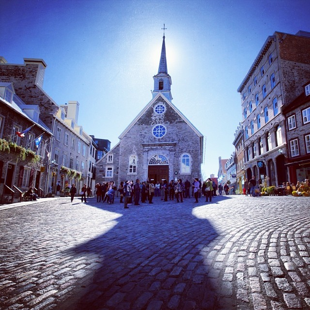 Notre Dame des Victoires in Québec City, built from 1687-1723 and commemorating victories over the British. I started the Mémère Project - @memereproject - to explore #French #Canadian roots in America. My #grandmother, Claudia Breton Émond, was one of nearly one million Québécois who emigrated to the United States between the 1840s and 1930s. It is a cultural #heritage that's widely unknown in this country. I'd like to change that.  #quebec #quebecois #francoamerican #jemesouviens #canada #memere #memereproject #montreal #quebeccity #love #tweegram #followme #follow4follow #like4like #look #instalike #igers #instadaily #instafollow #like #instagood #instacool #follow #webstagram