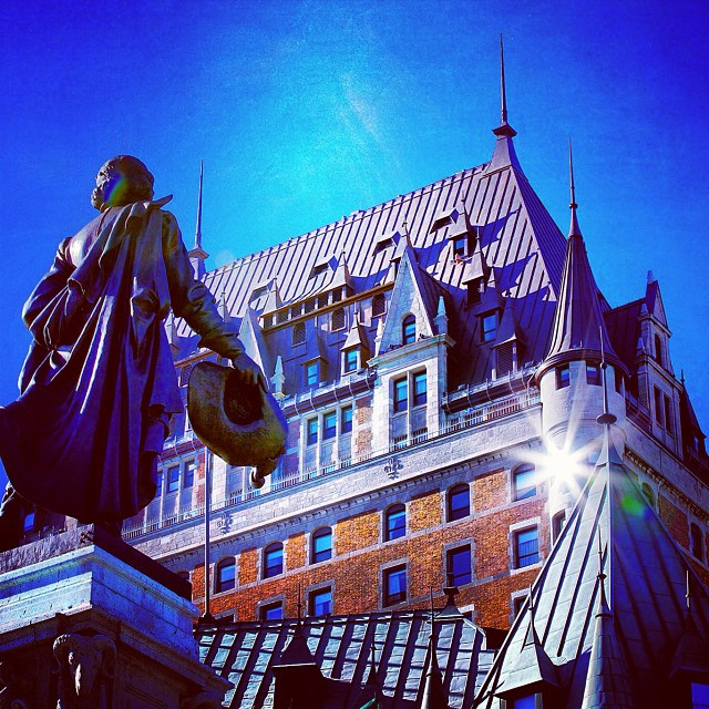 The Château Frontenac in Québec City, which opened 120 years ago, is recognized as being the most photographed hotel in the world. I started the Mémère Project - @memereproject - to explore #French #Canadian roots in America. My #grandmother, Claudia Breton Émond, was one of nearly one million Québécois who emigrated to the United States between the 1840s and 1930s. It is a cultural #heritage that's widely unknown in this country. I'd like to change that.  #quebec #quebecois #francoamerican #jemesouviens #canada #memere #memereproject #montreal #quebeccity #love #tweegram #followme #follow4follow #like4like #look #instalike #igers #instadaily #instafollow #like #instagood #instacool #follow #webstagram